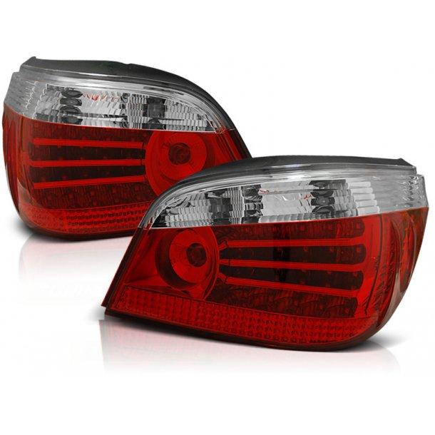 Baklykter BMW E60 07.03-07 RED WHITE LED LIMOUSINE