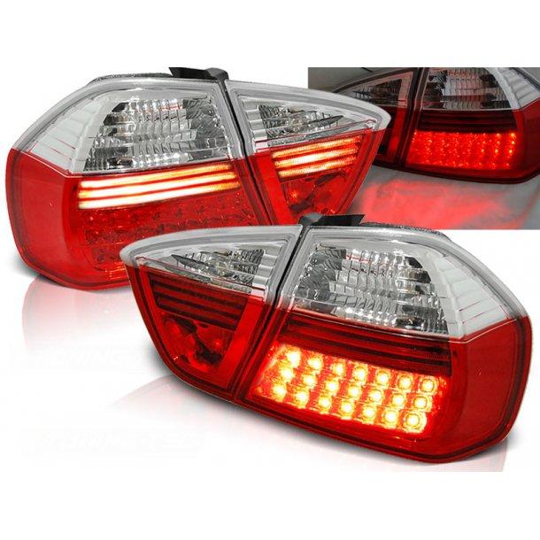 Baklykter BMW E90 03.05-08.08 RED WHITE LED