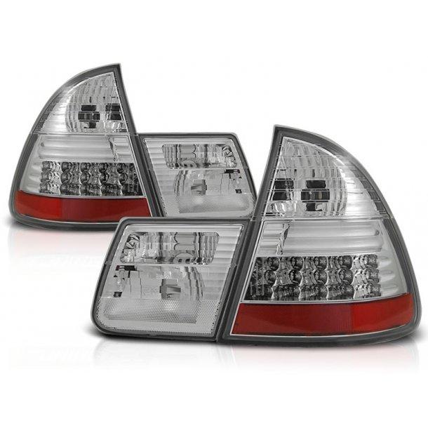 Baklykter BMW E46 99-05 CHROME LED