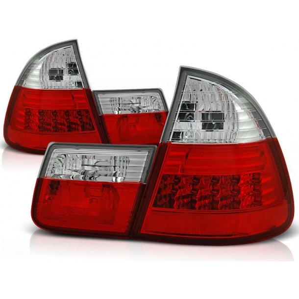 Baklykter BMW E46 99-05 RED WHITE LED TOURING