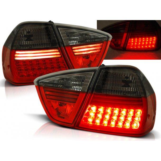 Baklykter BMW E90 03.05-08.08 RED SMOKE LED