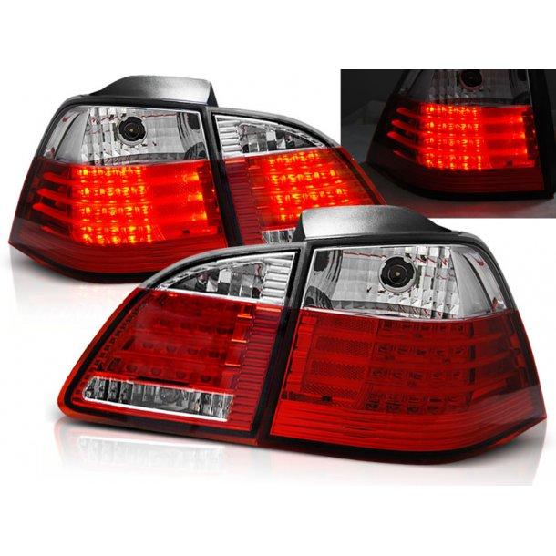 Baklykter BMW E61 04-03.07 TOURING RED WHITE LED