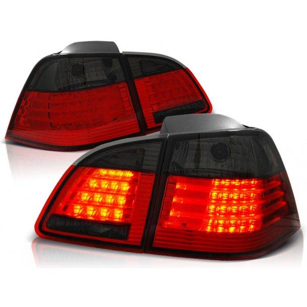 Baklykter BMW E61 04-03.07 TOURING RED SMOKE LED