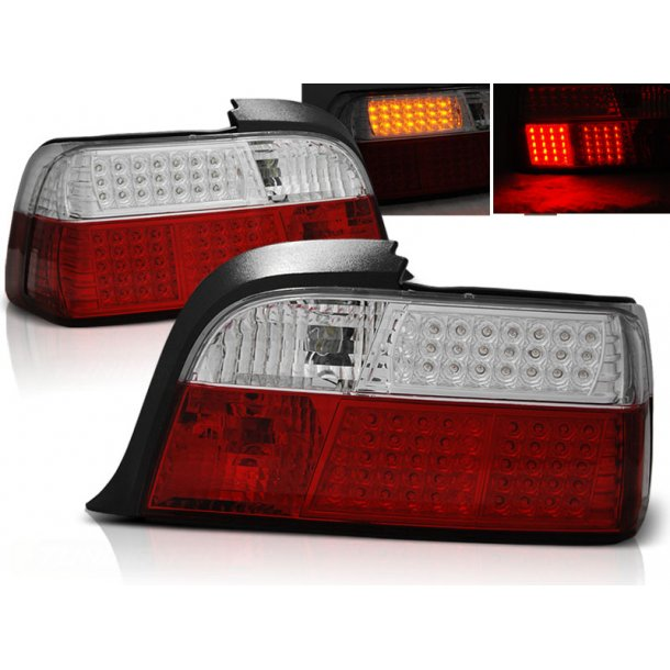 Baklykter BMW E36 12.90-08.99 COUPE RED WHITE LED