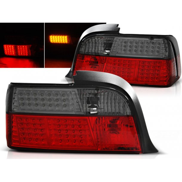Baklykter BMW E36 12.90-08.99 COUPE RED SMOKE LED