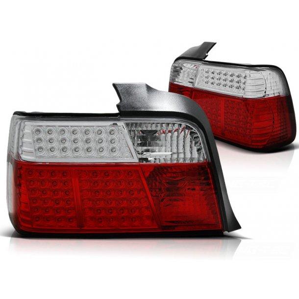 Baklykter BMW E36 12.90-08.99 SEDAN RED WHITE LED