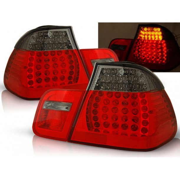 Baklykter BMW E46 05.98-08.01 SEDAN RED SMOKE LED