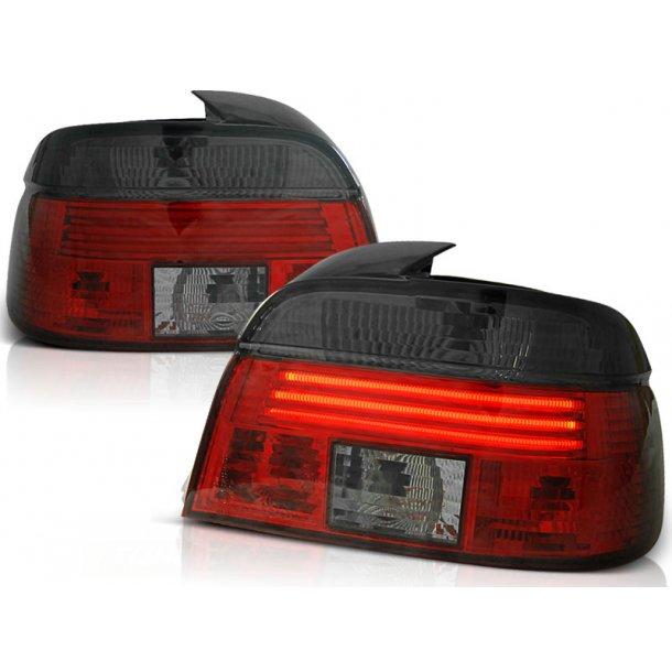 Baklykter BMW E39 09.95-08.00 RED SMOKE LINE LED