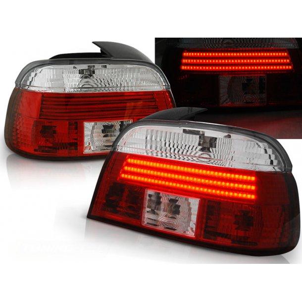 Baklykter BMW E39 09.95-08.00 LIMOUSINE RED WHITE LED