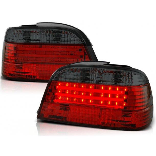 Baklykter BMW E38 06.94-07.01 RED SMOKE LED