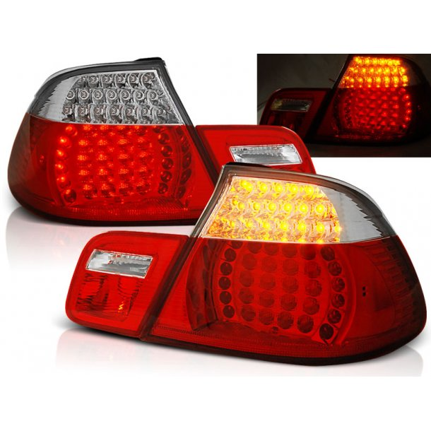 Baklykter BMW E46 04.99-03.03 CABRIO RED WHITE LED