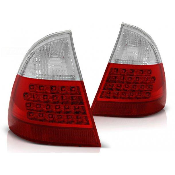 Baklykter BMW E46 99-05 RED WHITE LED