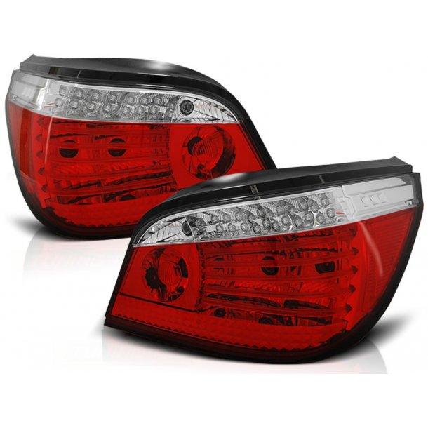 Baklykter BMW E60 07.03-07 RED WHITE LED/BULBS