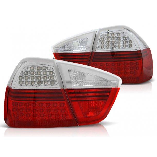 Baklykter BMW E90 03.05-08.08 RED WHITE LED INDIC.