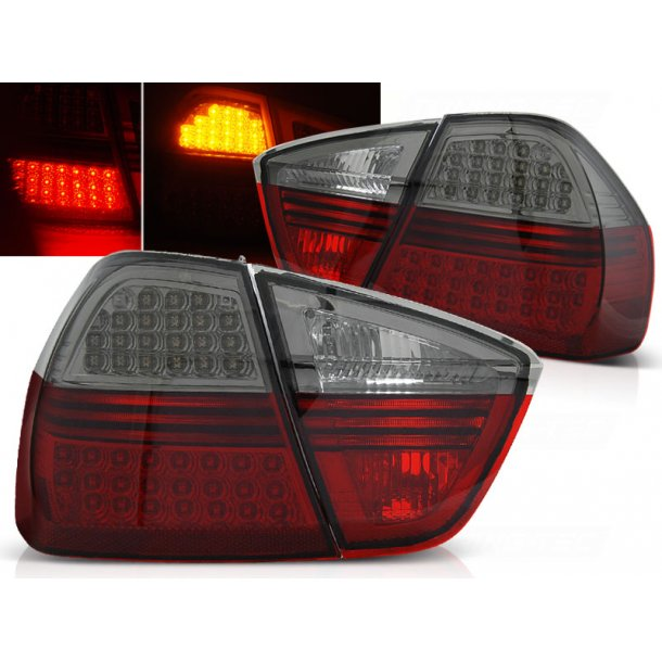 Baklykter BMW E90 03.05-08.08 RED SMOKE LED INDIC.