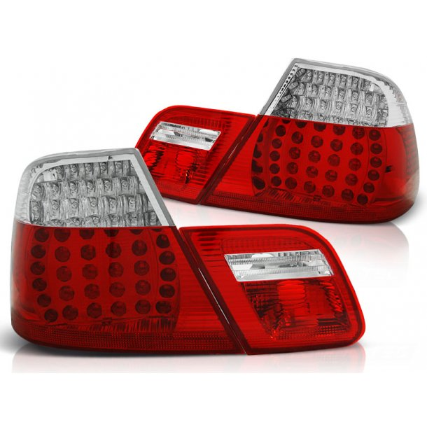 Baklykter BMW E46 04.99-03.03 COUPE RED WHITE LED DEPO