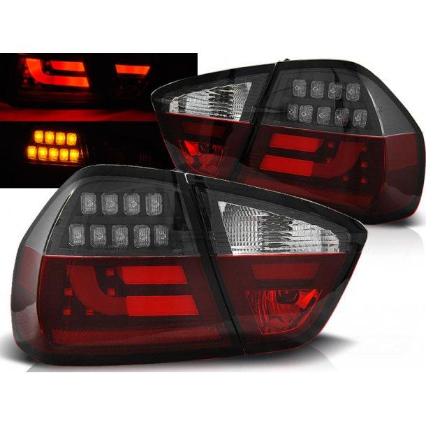 Baklykter BMW E90 03.05-08.08 RED WHITE BLACK LED BAR