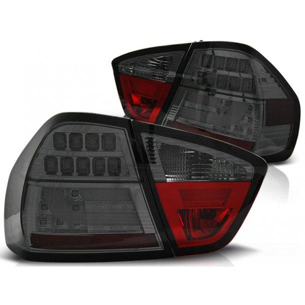 Baklykter BMW E90 03.05-08.08 SMOKE LED BAR LIMOUSINE