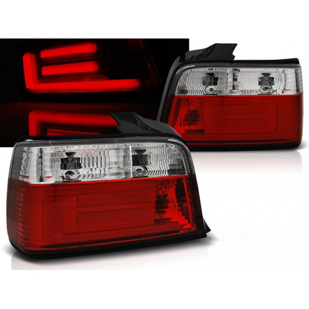 Baklykter BMW E36 12.90-08.99 SEDAN RED WHITE BAR LED