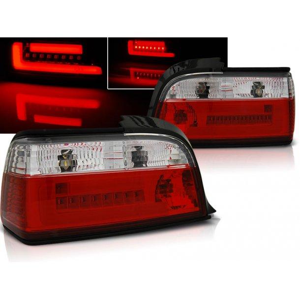 Baklykter BMW E36 12.90-08.99 C/C RED WHITE BAR LED