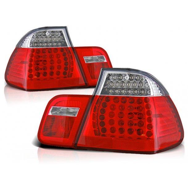 Baklykter BMW E46 09.01-03.05 SEDAN RED TOP WHITE LED