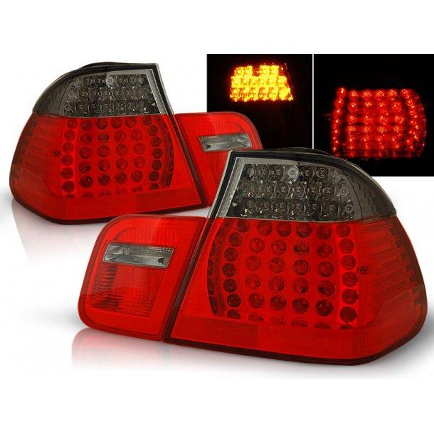 Baklykter BMW E46 09.01-03.05 SEDAN RED SMOKE LED