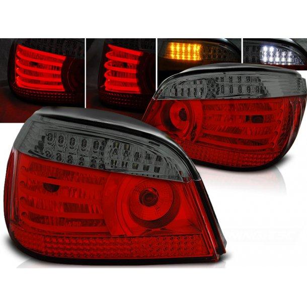 Baklykter BMW E60 07.03-07 RED SMOKE LED/BULBS