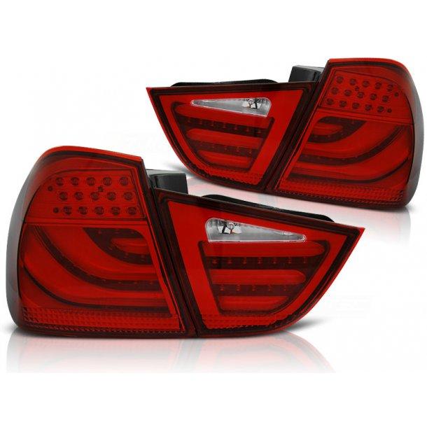 Baklykter BMW E90 09-11 RED LED BAR