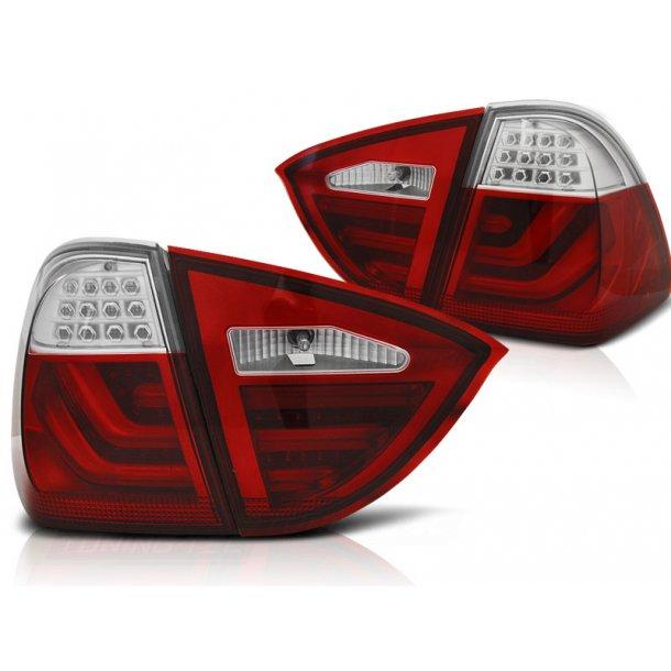 Baklykter BMW E91 05-08 RED WHITE LED BAR