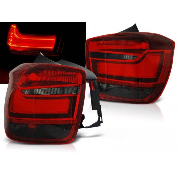 Baklykter BMW F20 / F21 11-12.14 RED SMOKE LED BAR