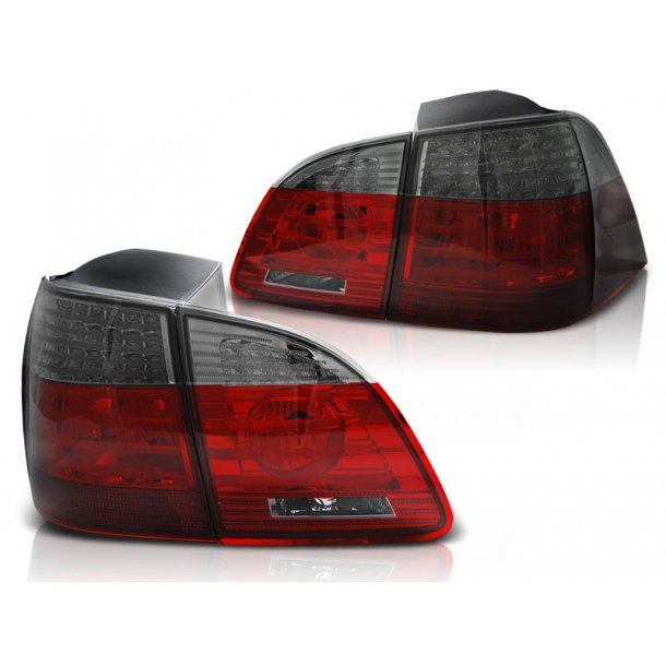 Baklykter BMW E61 04-03.07 TOURING RED SMOKE LED/BULBS