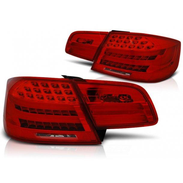 Baklykter BMW E92 09.06-03.10 RED WHITE LED BAR