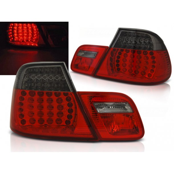 Baklykter BMW E46 04.03-06 COUPE RED SMOKE LED