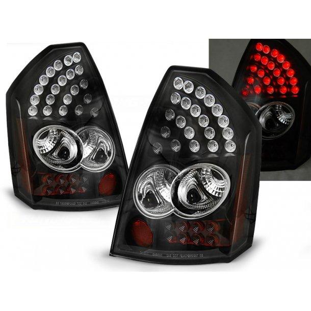 Baklykter CHRYSLER 300C 05-08 BLACK LED