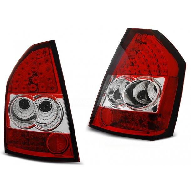 Baklykter CHRYSLER 300C/300 09-10 RED WHITE LED