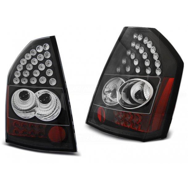 Baklykter CHRYSLER 300C/300 09-10 BLACK LED