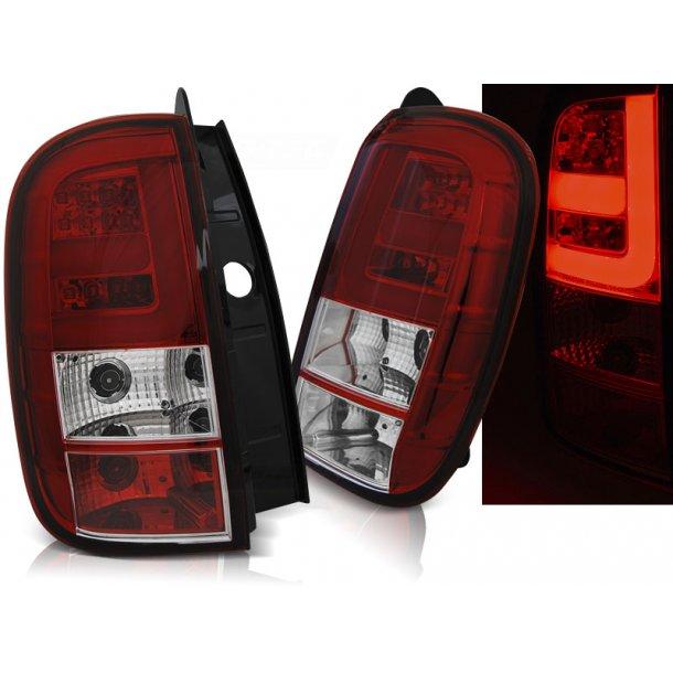 Baklykter DACIA DUSTER 04.10- LED BAR RED WHITE