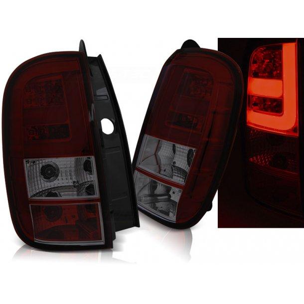 Baklykter DACIA DUSTER 04.10- LED BAR RED SMOKE