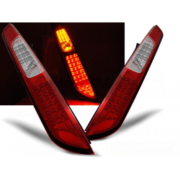 Baklykter FORD FOCUS MK2 09.04-08 HB RED WHITE LED