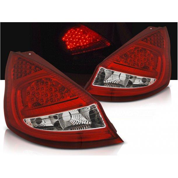 Baklykter FORD FIESTA MK7 08-12  HB RED WHITE LED
