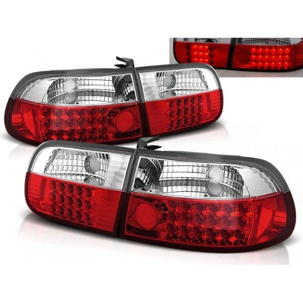 Baklykter HONDA CIVIC 09.91-08.95 3D RED WHITE LED