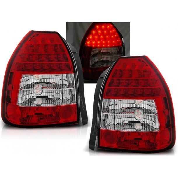 Baklykter HONDA CIVIC 09.95-02.01 3D RED WHITE LED