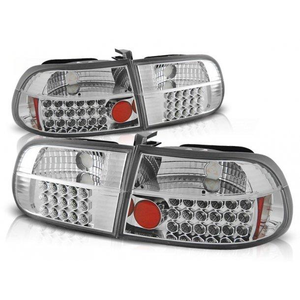Baklykter HONDA CIVIC 09.91-08.95 3D CHROME LED
