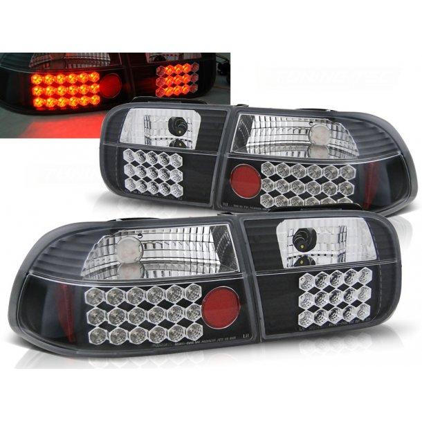Baklykter HONDA CIVIC 09.91-08.95 2D/4D BLACK LED
