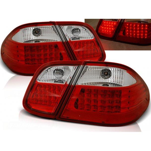 Baklykter MERCEDES W208 CLK 03.97-04.02 RED WHITE LED