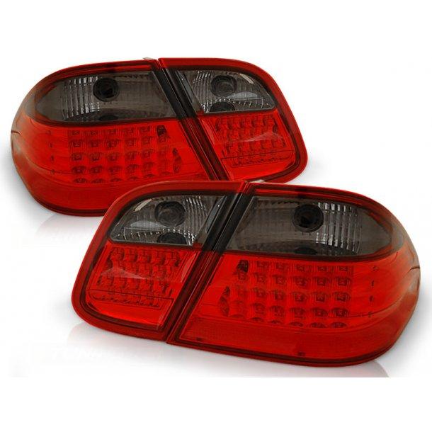 Baklykter MERCEDES W208 CLK 03.97-04.02 RED SMOKE LED