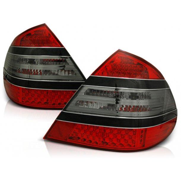 Baklykter MERCEDES W211 E-KLASSE 03.02-04.06 RED SMOKE BLACK BAR LED