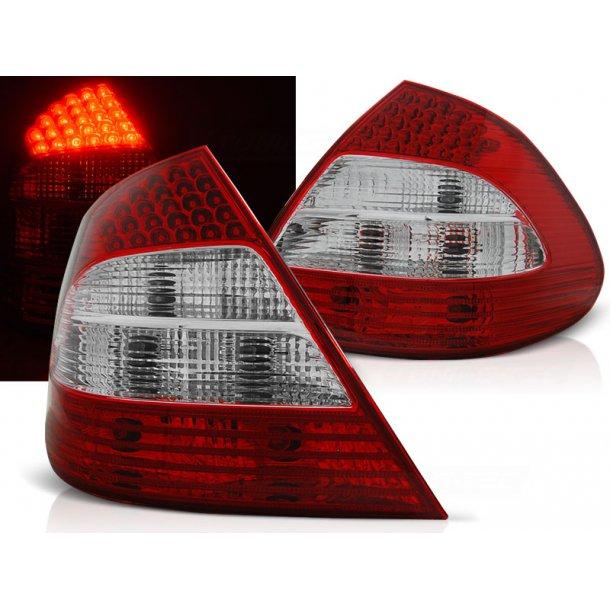 Baklykter MERCEDES W211 E-KLASSE 03.02-04.06 RED WHITE LED