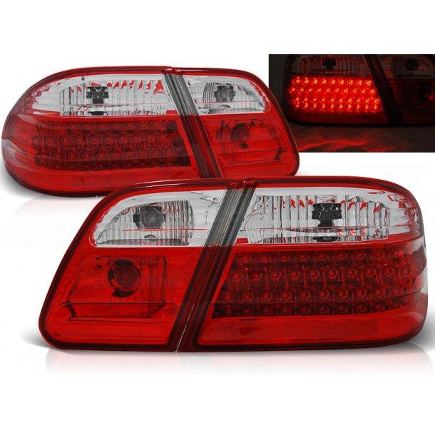 Baklykter MERCEDES W210 95-03.02 RED WHITE LED