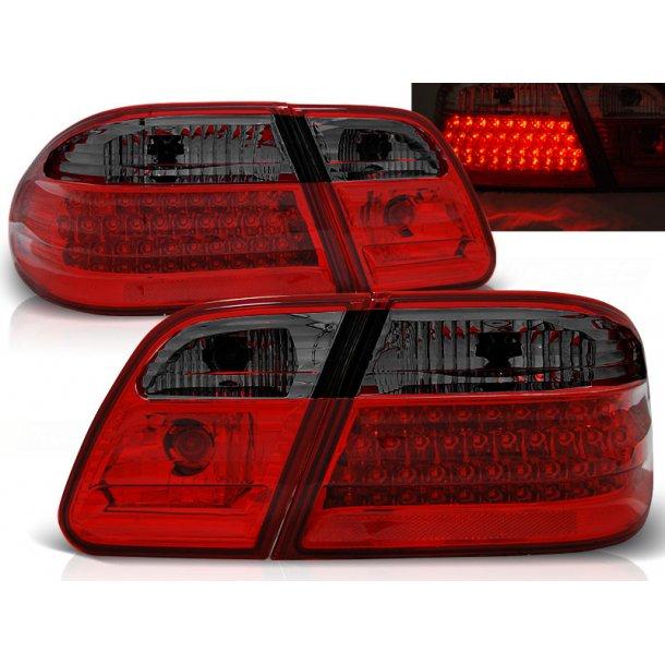 Baklykter MERCEDES W210 95-03.02 RED SMOKE LED
